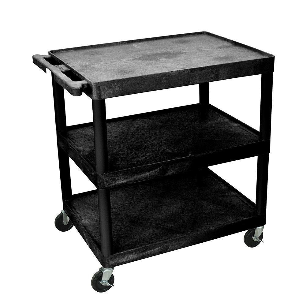 luxor h wilson he33 b black 3 flat shelf structural. Black Bedroom Furniture Sets. Home Design Ideas