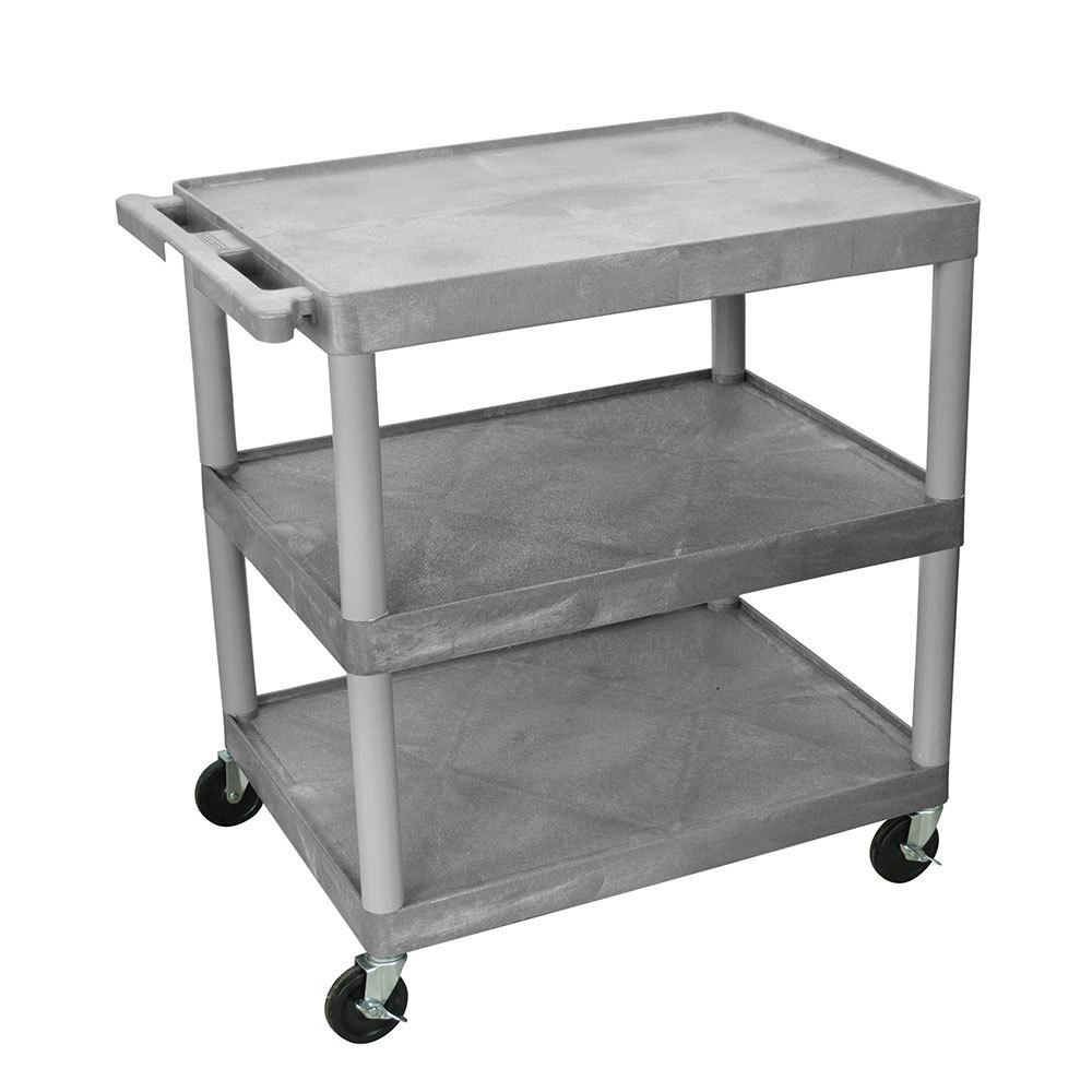 luxor h wilson he33 g gray 3 flat shelf structural foam. Black Bedroom Furniture Sets. Home Design Ideas