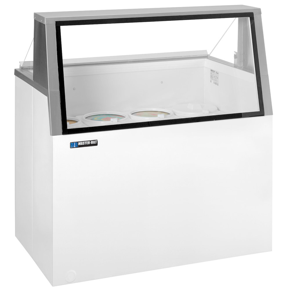 "Master-Bilt DD-66L 69"" Low Glass Ice Cream Dipping Cabinet"