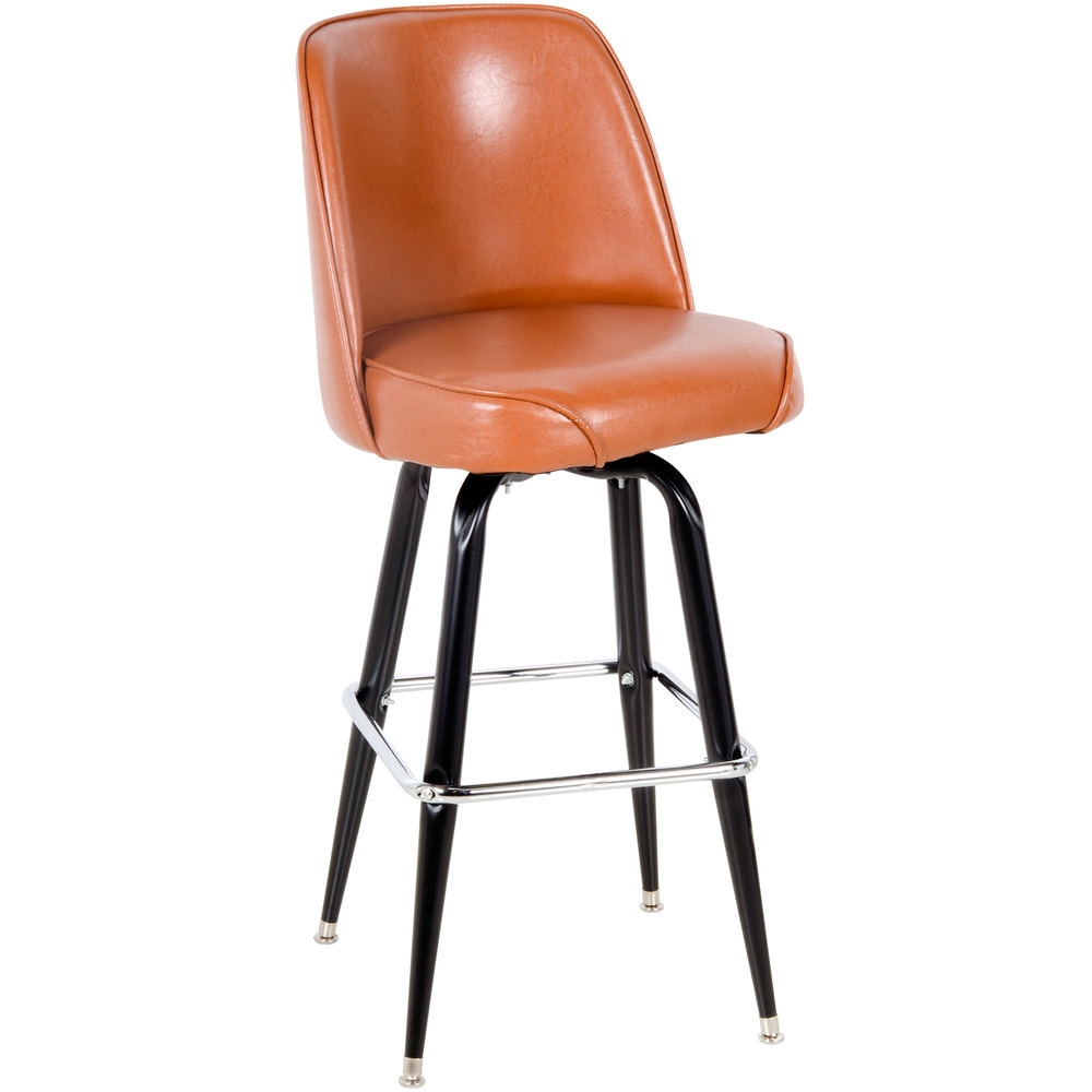 Lancaster Table amp Seating Deluxe Brown Barstool with 19  : 807008 from www.webstaurantstore.com size 1000 x 1000 jpeg 44kB