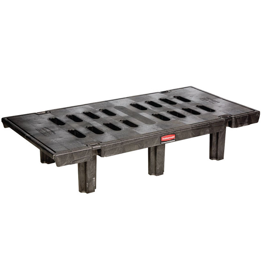 "Rubbermaid 4490 24"" x 48"" x 12"" Dunnage Rack (FG449000BLA) - 2000 lb. Capacity"