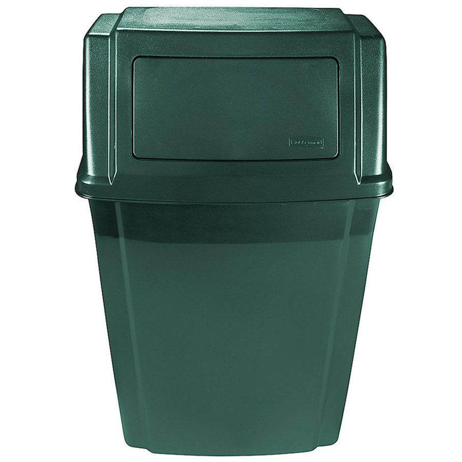 Rubbermaid 1829403 Slim Jim Green Wall Mounted Trash