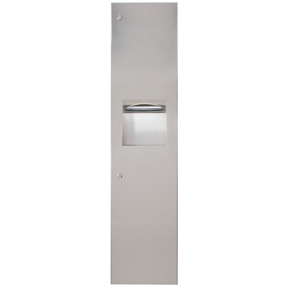 Bobrick B-38034 TrimLineSeries Recessed Paper Towel Dispenser / Waste Receptacle