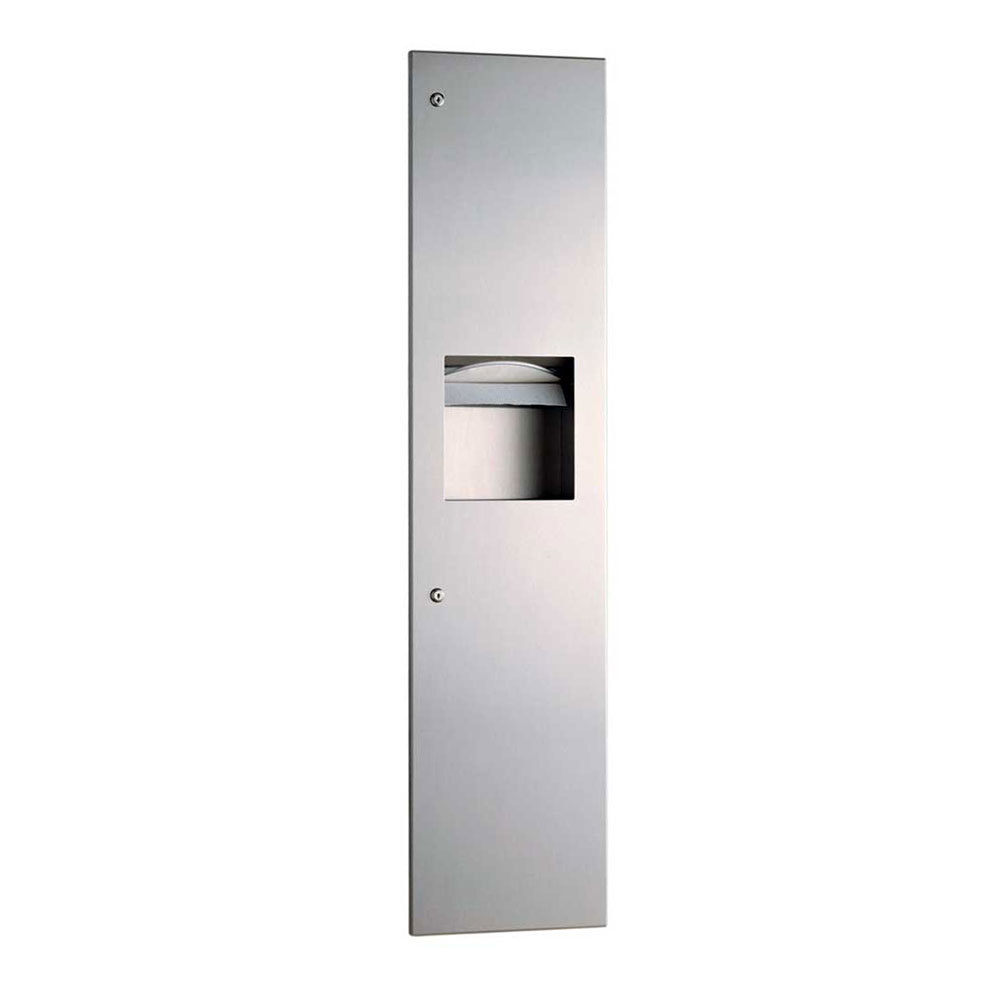 Bobrick B-3803 TrimLineSeries Recessed Paper Towel Dispenser / Waste Receptacle