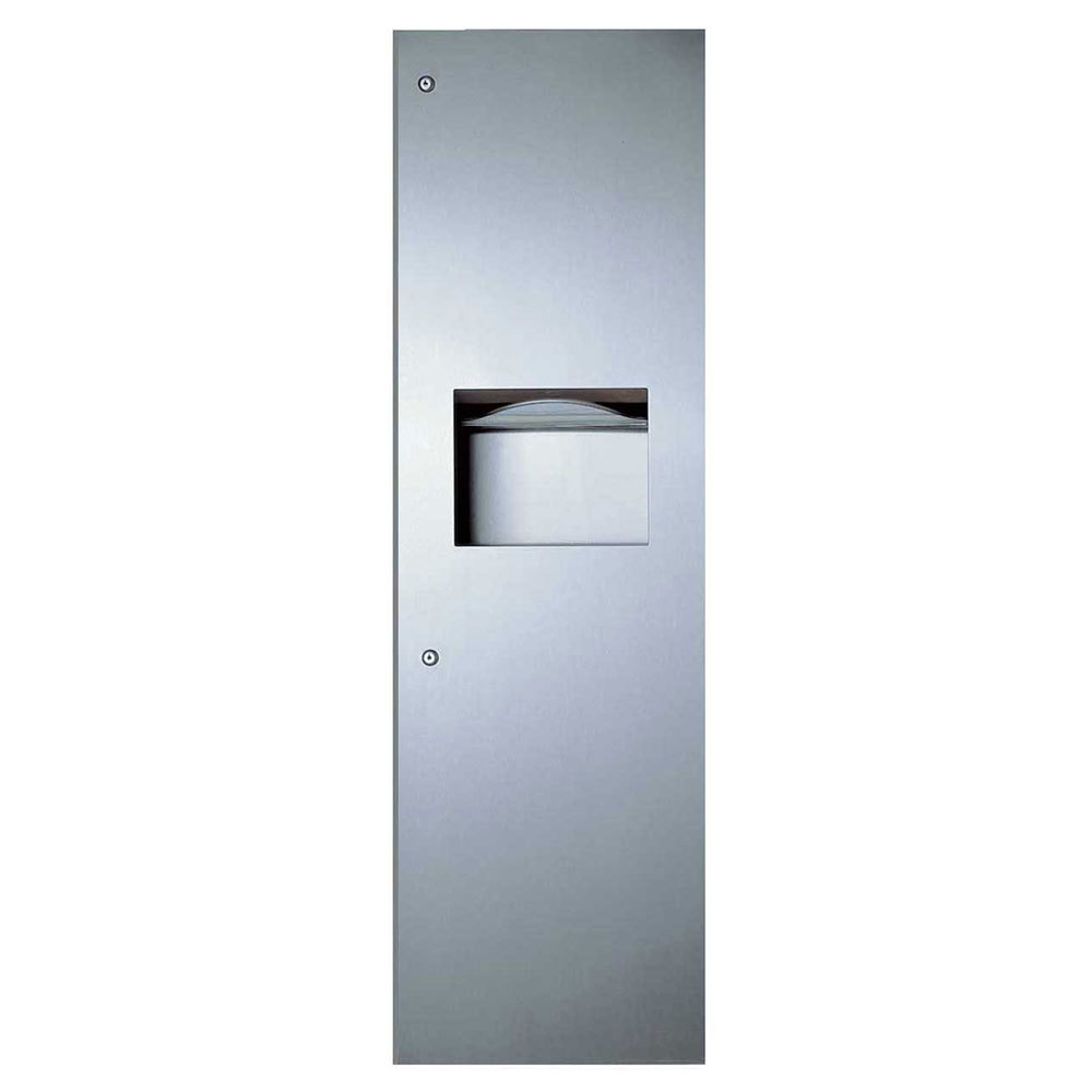 Bobrick B-39003 TrimLineSeries Recessed Paper Towel Dispenser / Waste Receptacle
