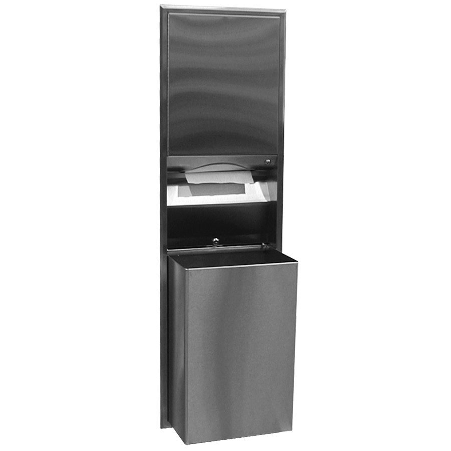 Bobrick B-3947 ClassicSeries Recessed Convertible Paper Towel Dispenser / Waste Receptacle