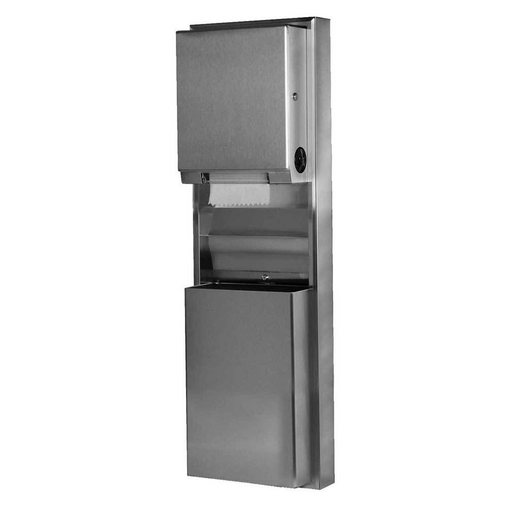 Bobrick B 39619 Classicseries Surfaced Mounting Convertible Paper Towel Dispenser Waste Receptacle