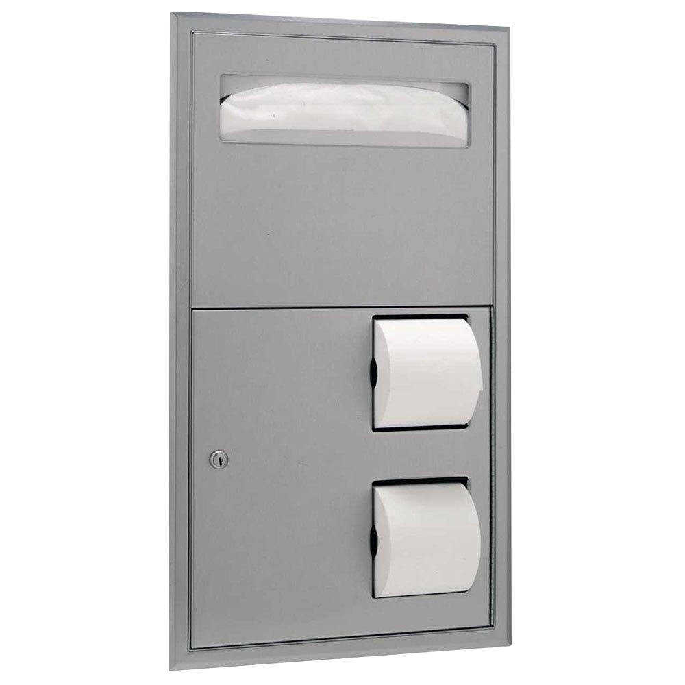 Bobrick B 3474 Classicseries Recessed Seat Cover Dispenser And Toilet Tissue Dispenser