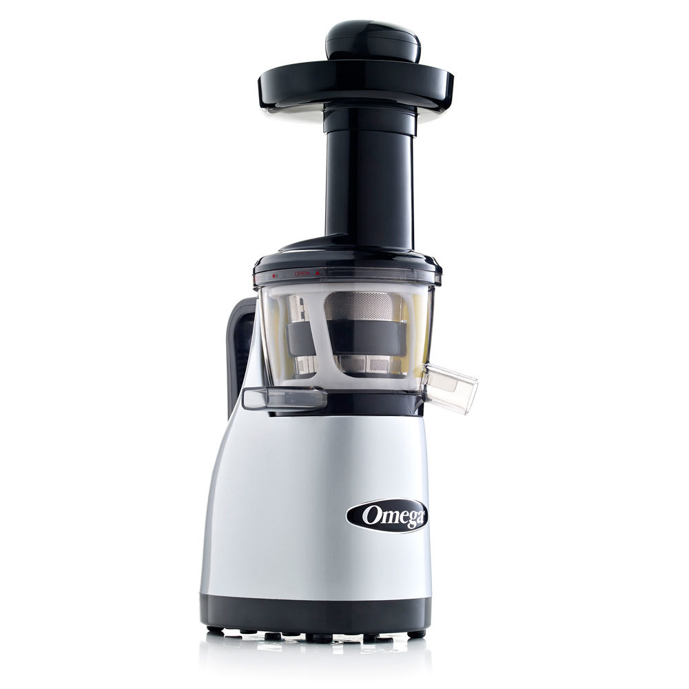 Omega j8006 nutrition center commercial masticating juicer - Omega Vrt370hds Silver Vertical Masticating Juicer 120v 150w