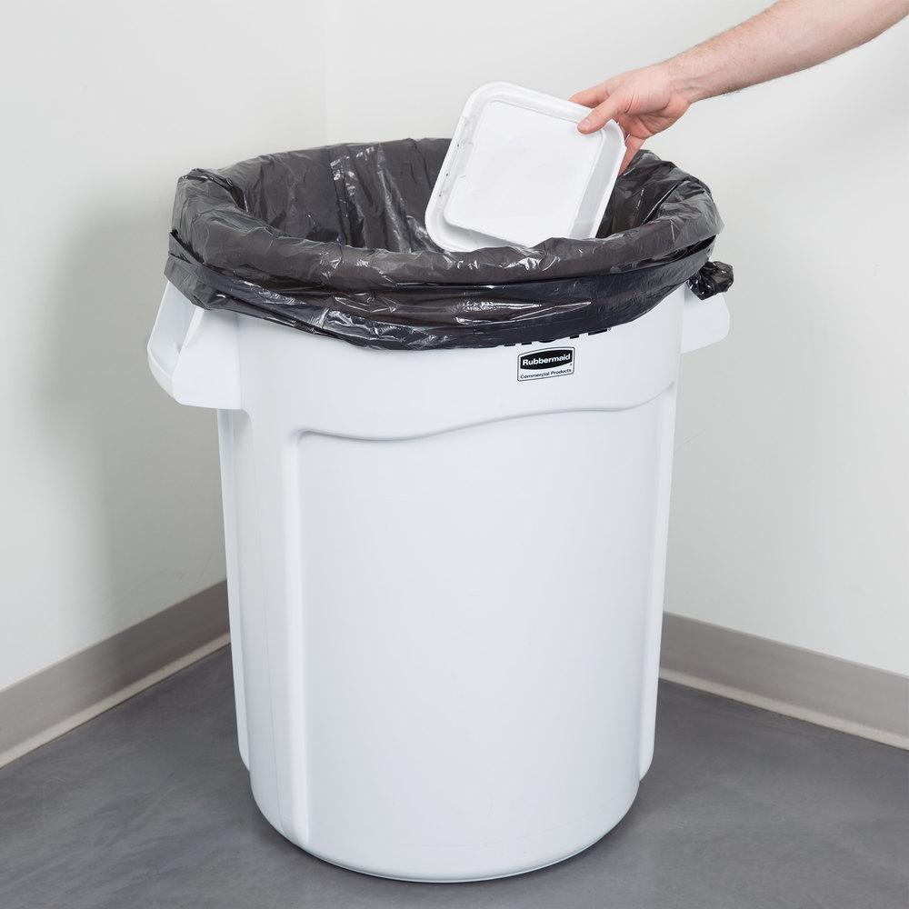 Rubbermaid 1779740 Brute 44 Gallon White Trash Can