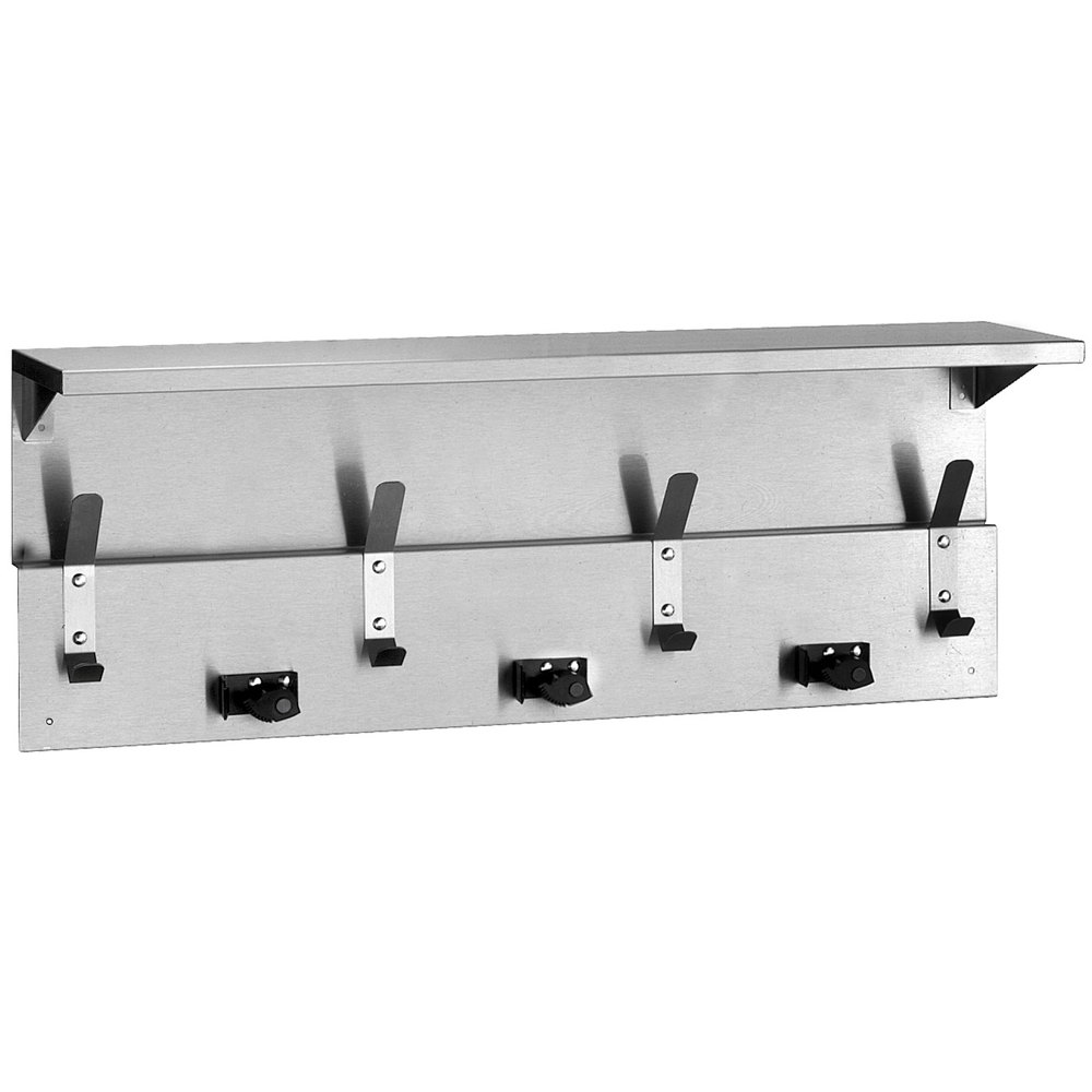 Bobrick B 239 Utility Shelf With Mop Broom Holders And