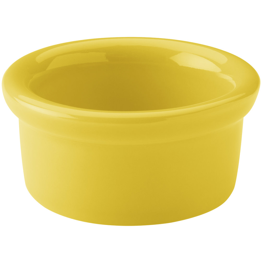 Hall China 30362320 Sunflower 2.5 oz. Colorations Round China Ramekin - 36/Case