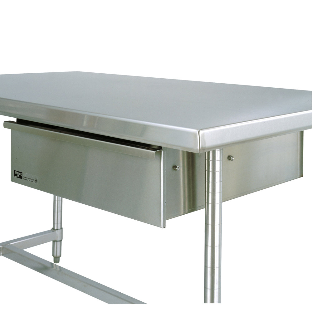"""Kitchen Table Drawers: Metro WTD51S 24"""" X 25"""" Stainless Steel Deluxe Work Table"""