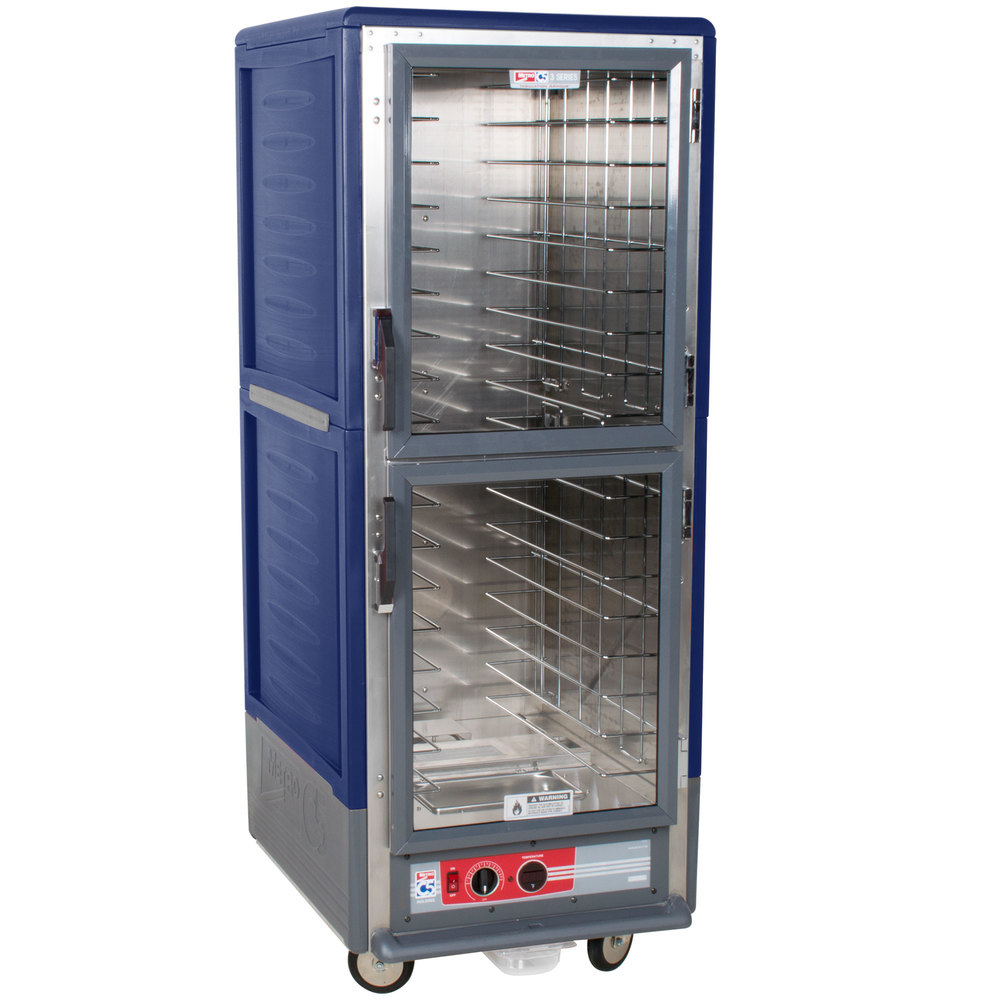 Metro C539-HDC-L-BU C5 3 Series Heated Holding Cabinet with Clear Dutch Doors - Blue