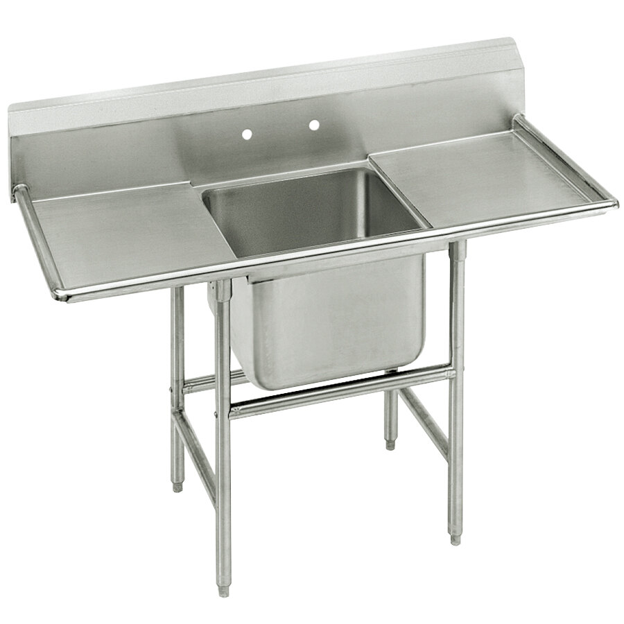 Advance Tabco 94-41-24-24RL Spec Line One Compartment Pot Sink with Two Drainboards - 74""