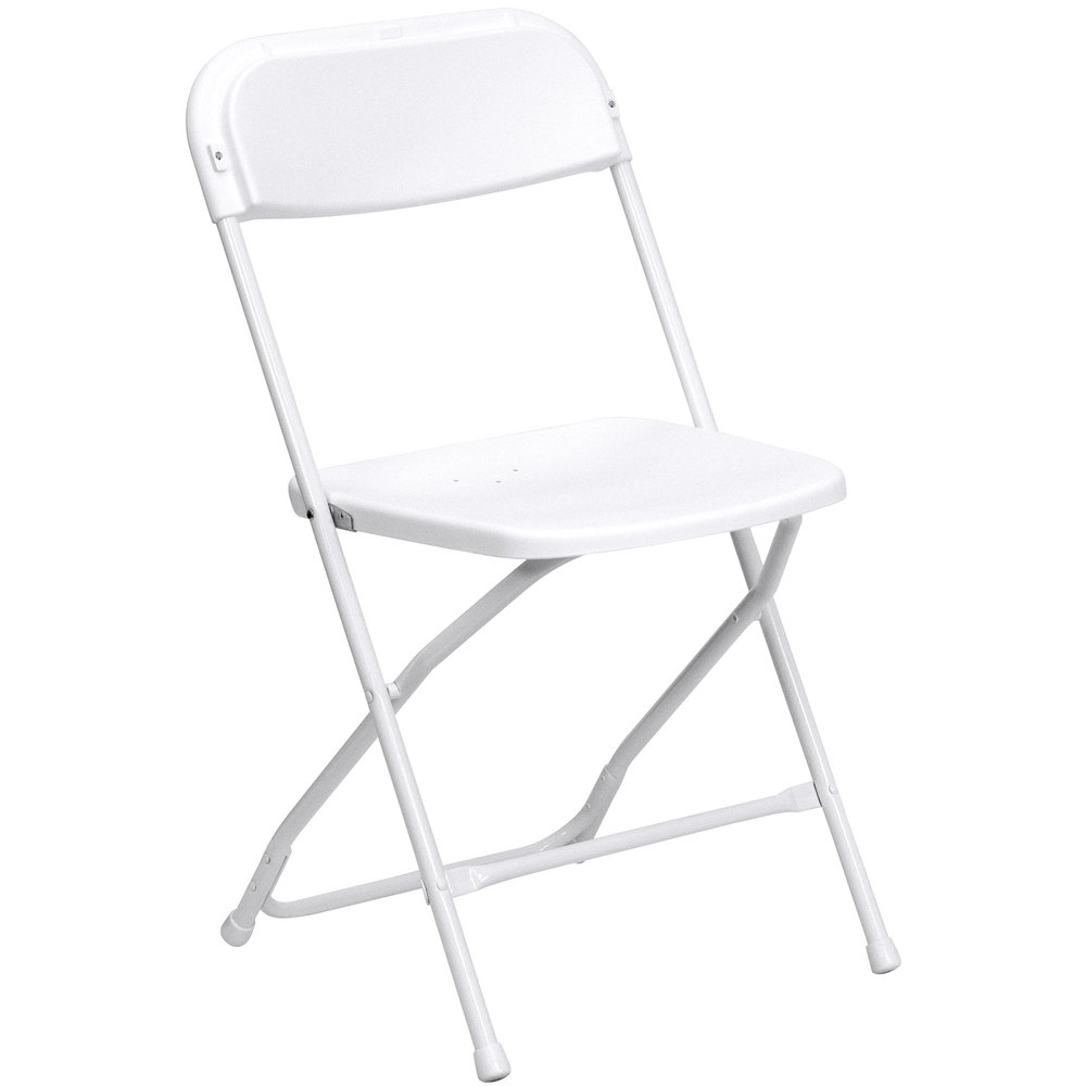 Lovely ... White Folding Chair. Main Picture ...