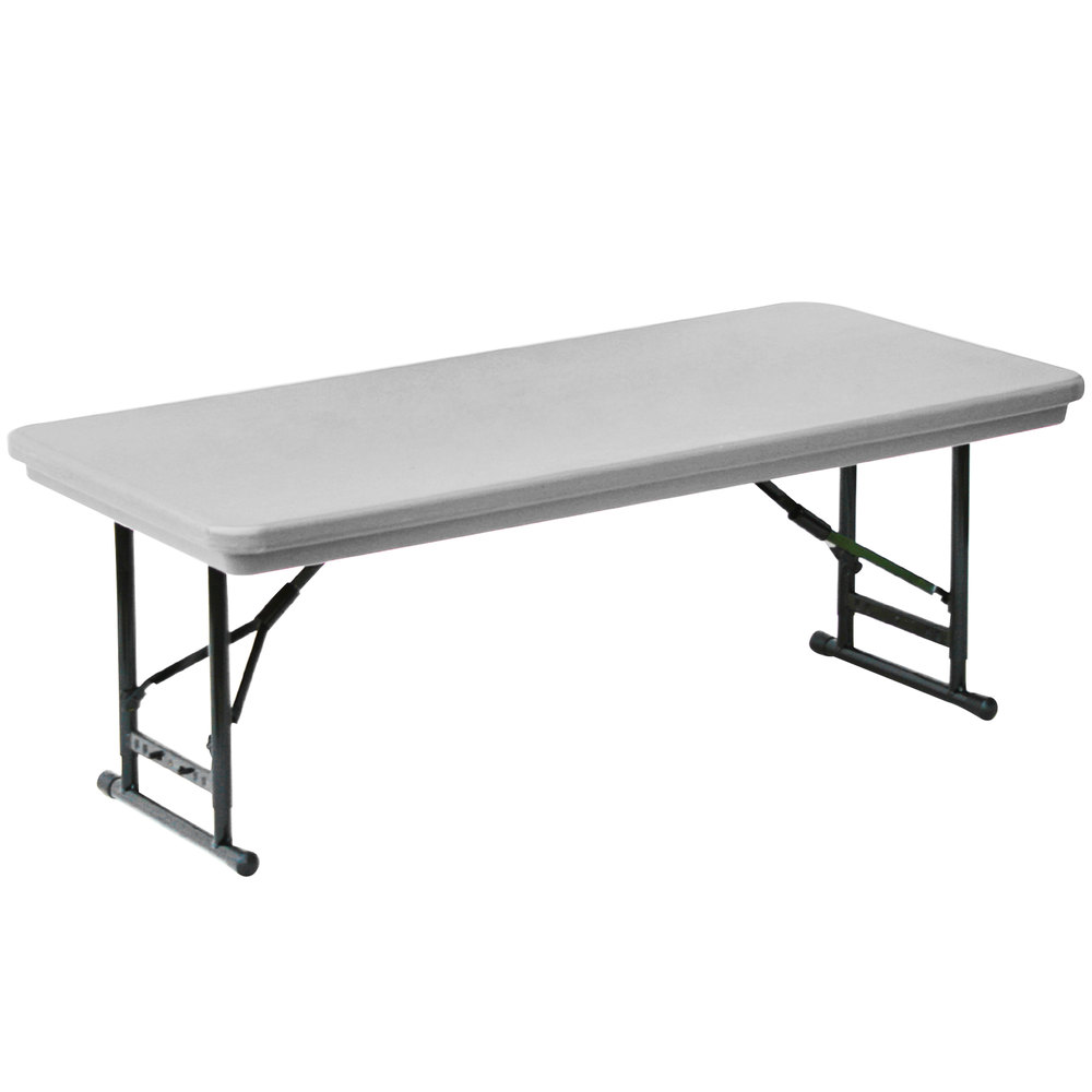 Correll r series ra3060s 30 x 60 gray plastic adjustable for Short table legs