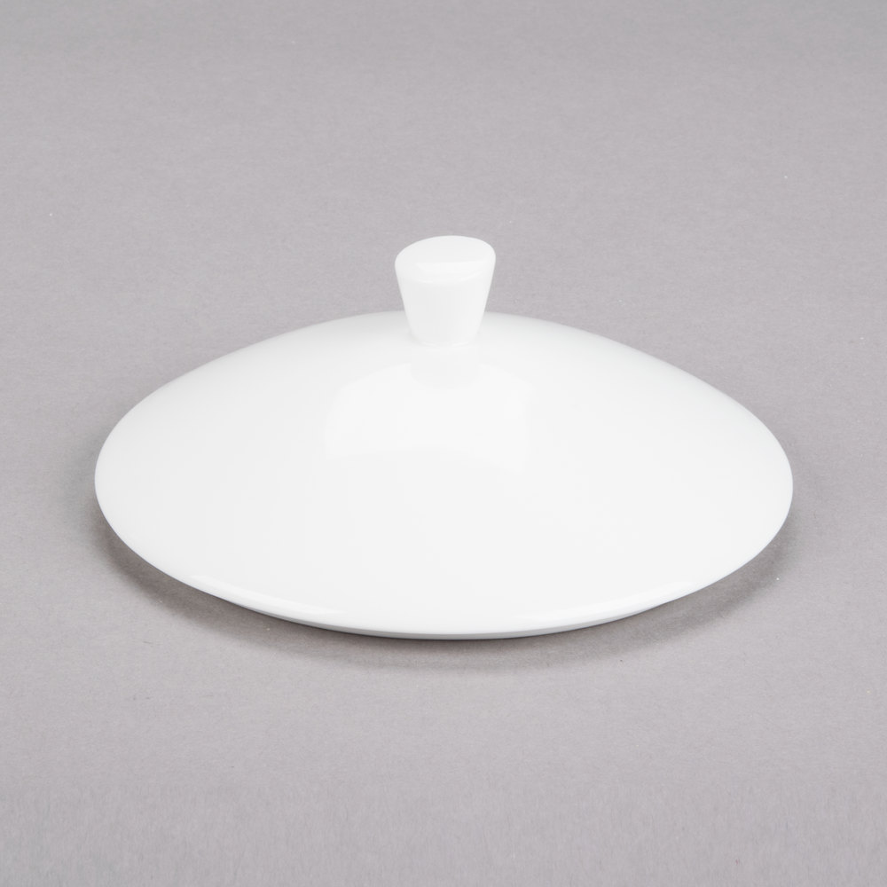 "Cardinal Chef & Sommelier S1080 Purity 5 1/2"" x 1 1/4"" Porcelain Lid for Purity Bowls - 24/Case"