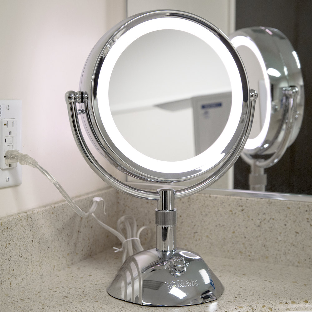 conair be6sw telescopic makeup mirror with light. Black Bedroom Furniture Sets. Home Design Ideas