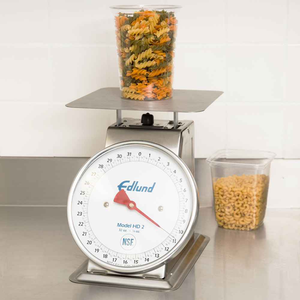 "Edlund HD-2DP Heavy-Duty 32 oz. Portion Scale with 8 1/2"" x 8 1/2"" Platform and Air Dashpot"
