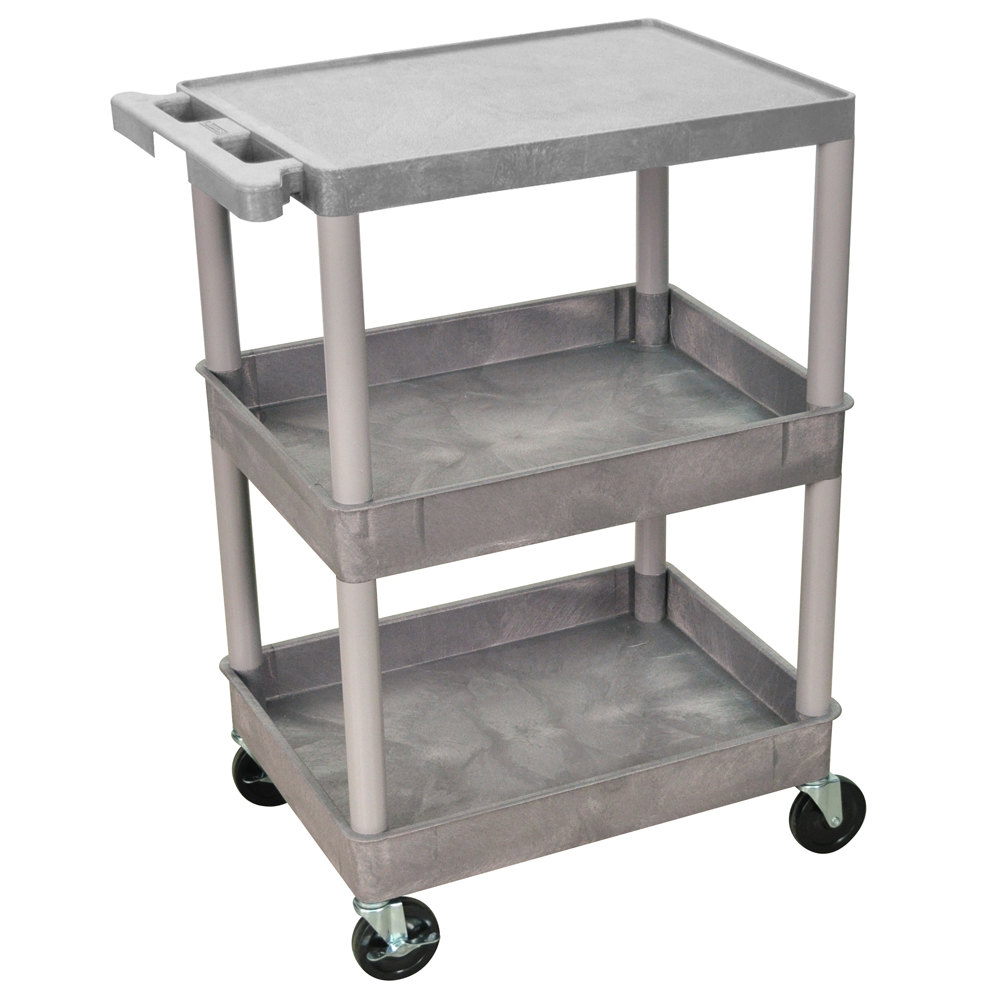 Large Utility Tub : ... Gray Three Shelf Utility Cart - 2 Tub Shelves, 24