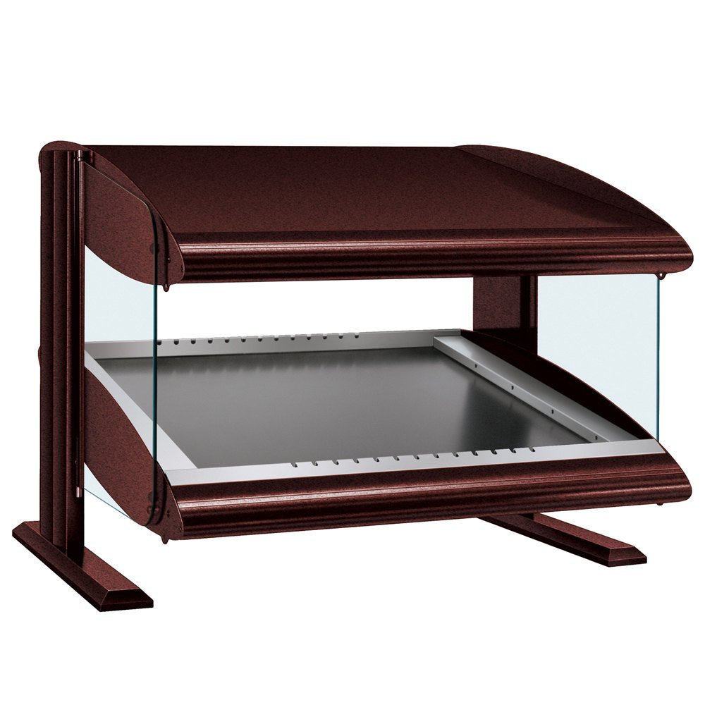 "Hatco HZMS-30 Antique Copper 30"" Slanted Single Shelf Heated Zone Merchandiser - 120V"