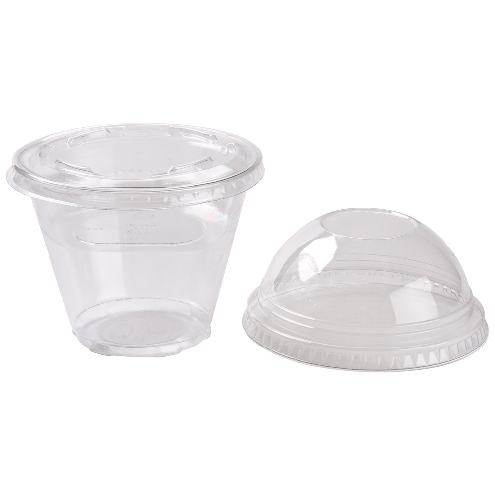 Cup With Lid : Squat oz parfait cup with fabri kal insert flat
