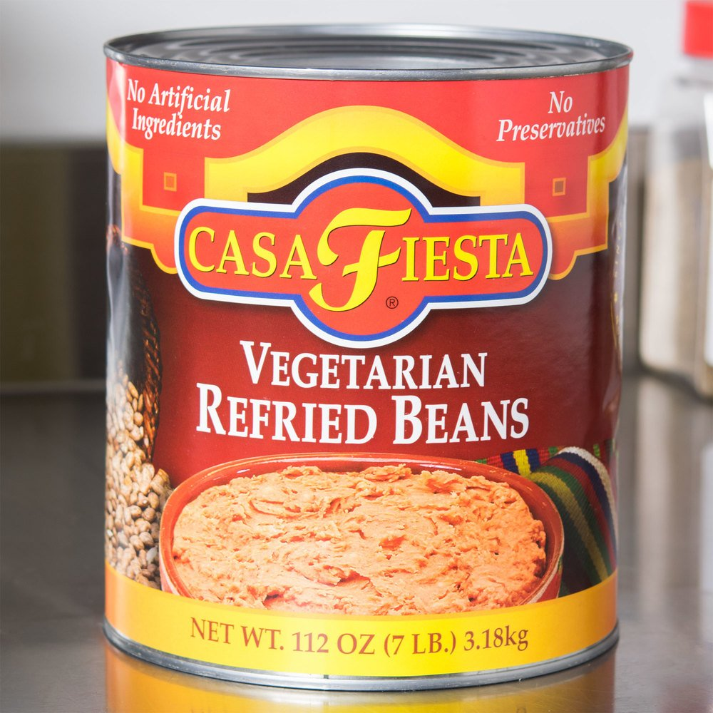 Casa Fiesta #10 Can Vegetarian Refried Beans - 6/Case