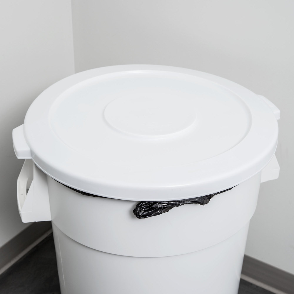 44 Gallon White Trash Can Lid