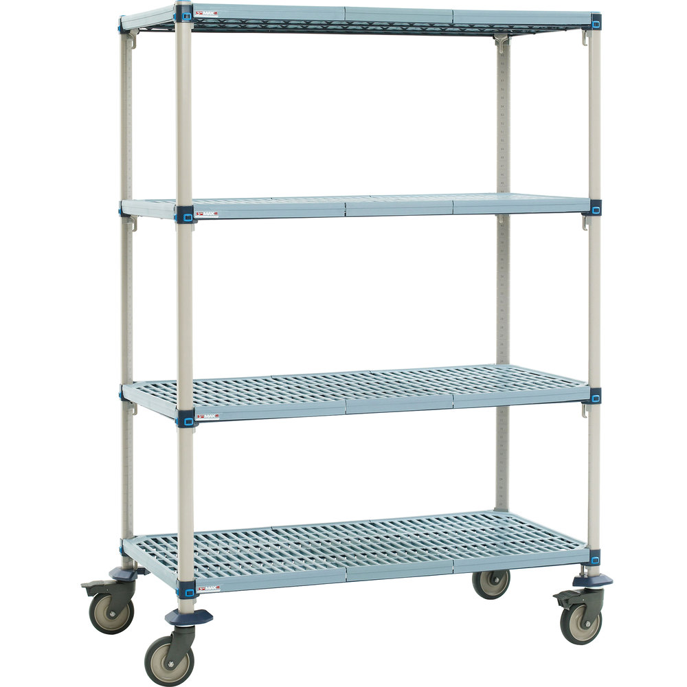 "Metro Q356EG3 MetroMax Q Open Grid Shelf Cart 48"" x 18"" x 69"""