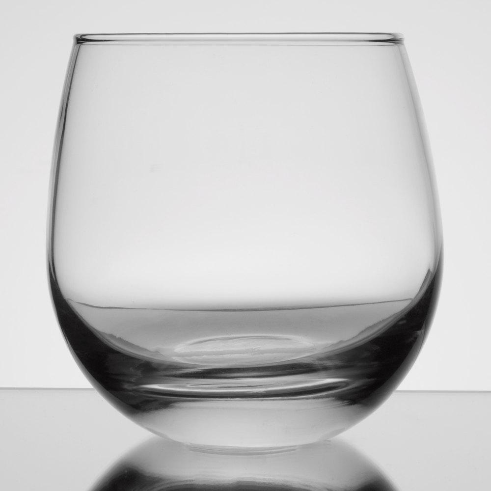 7f6904db028 Libbey 238 15 oz. Stemless Rocks / Old Fashioned Glass - 12/Case