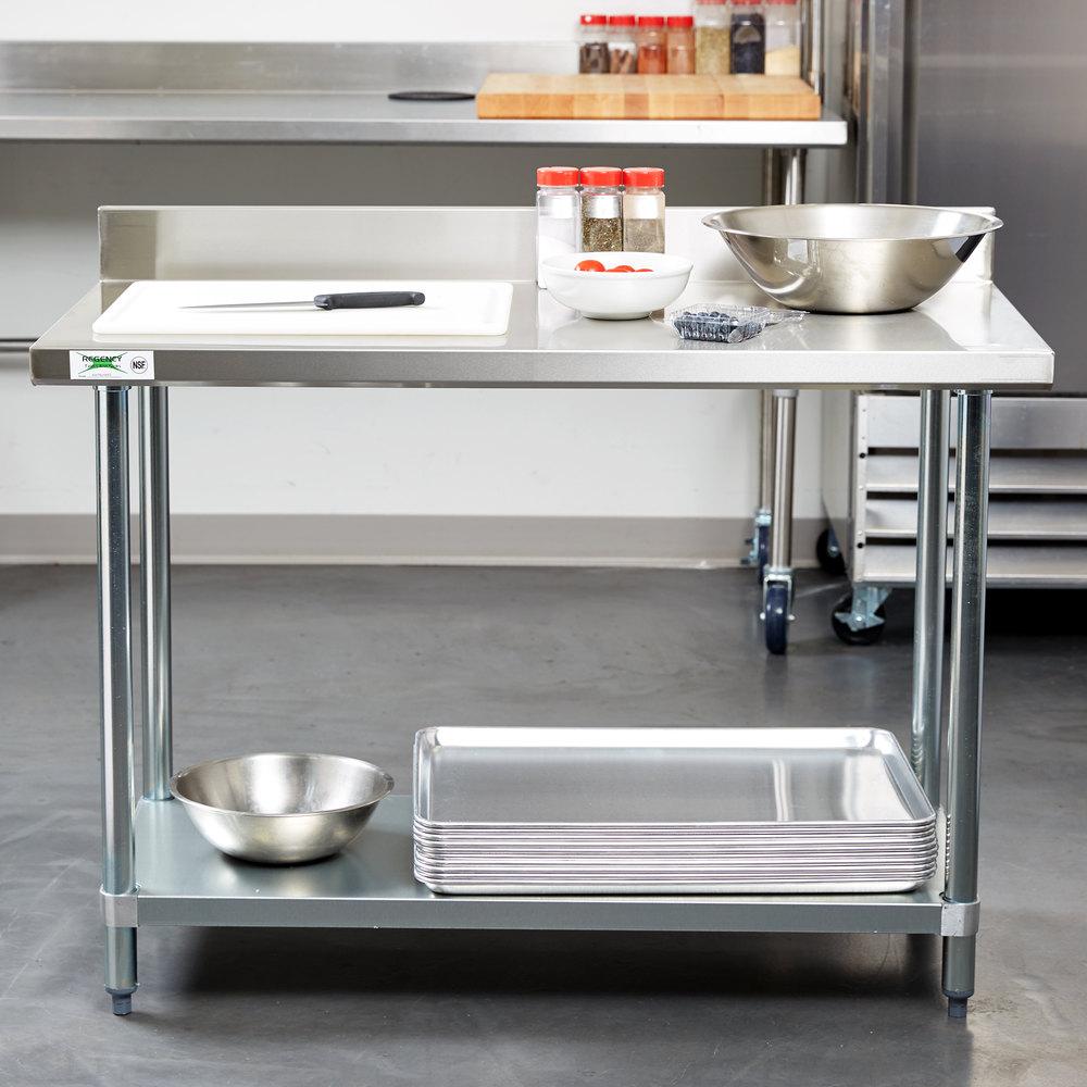 regency 24 x 48 18 gauge 304 stainless steel commercial. Black Bedroom Furniture Sets. Home Design Ideas