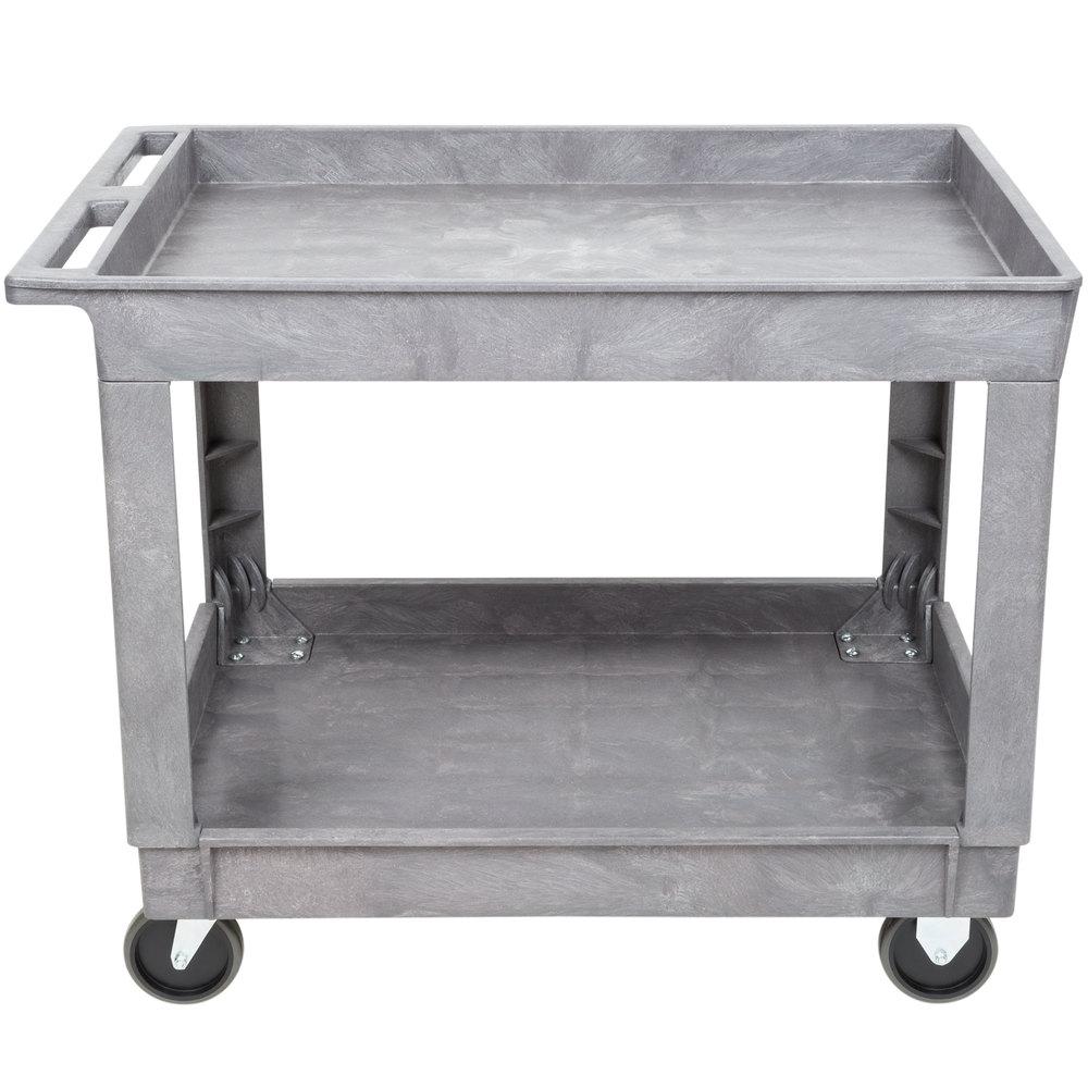 lakeside 2523 plastic deep well two shelf utility cart. Black Bedroom Furniture Sets. Home Design Ideas