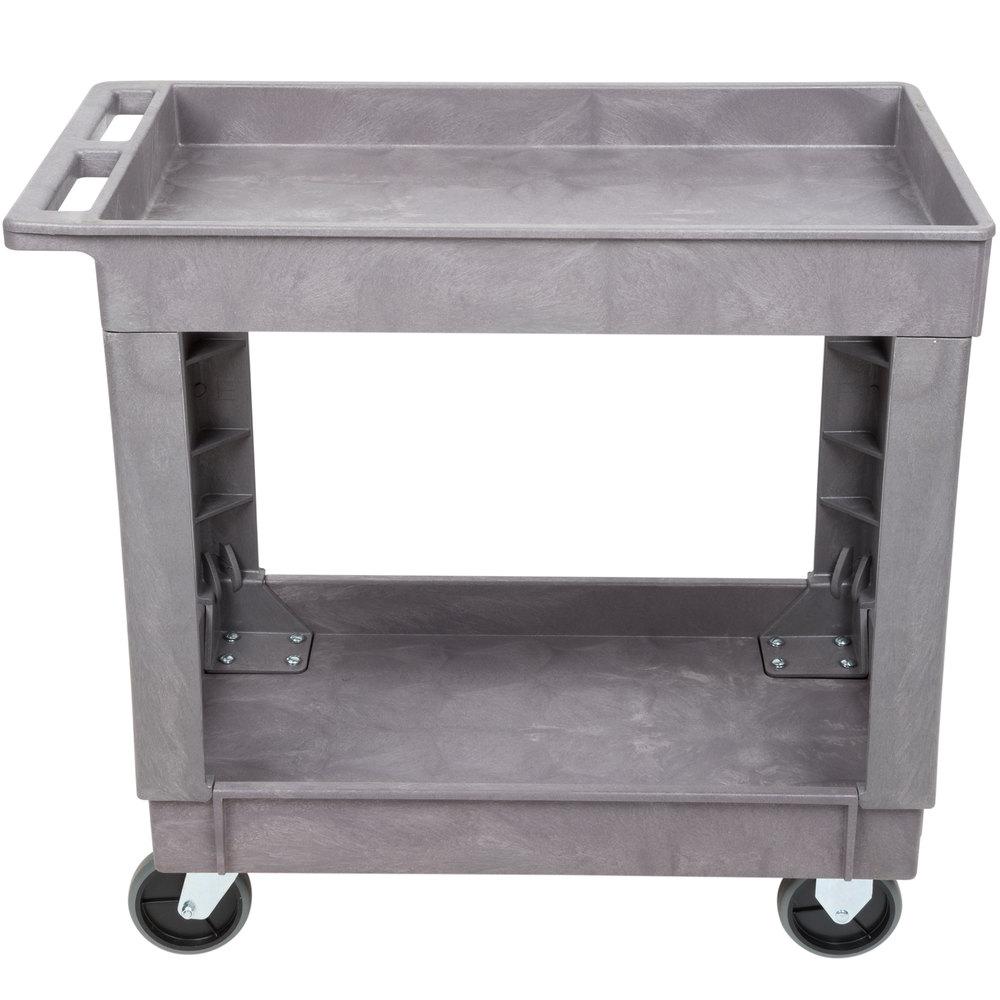 lakeside 2521 plastic deep well two shelf utility cart. Black Bedroom Furniture Sets. Home Design Ideas