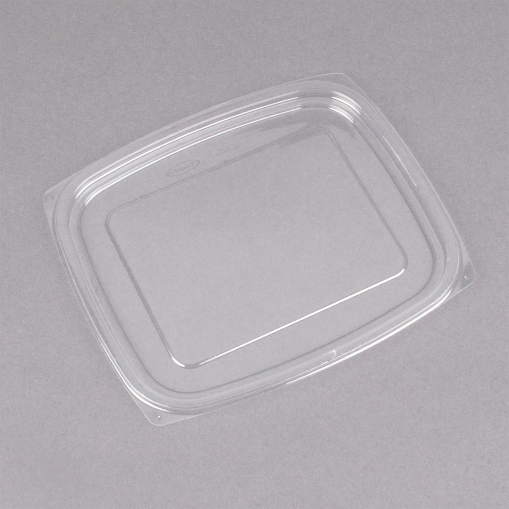 Dart C32DLR ClearPac Clear Snap-On Flat Lid for 24 and 32 oz. Plastic Containers - 504/Case