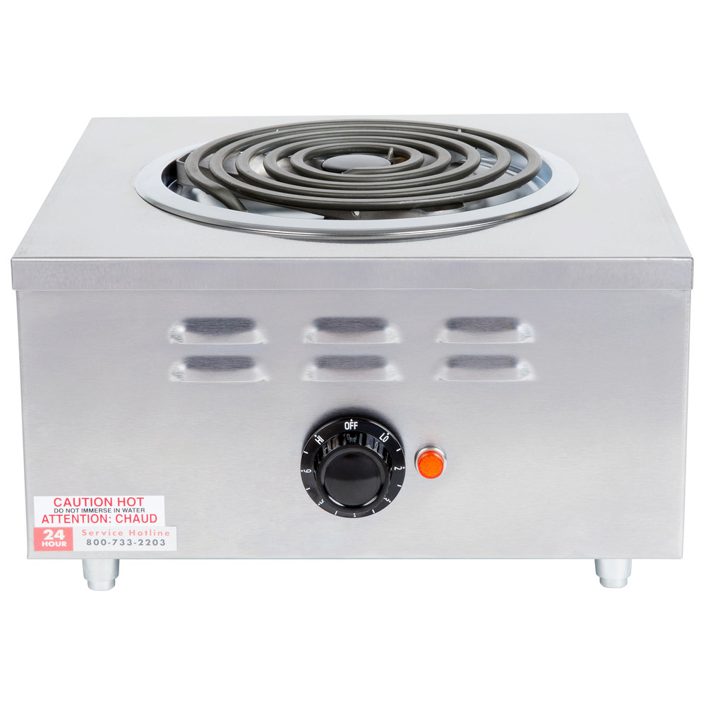 APW Wyott CHP-1A Champion Single Open Burner Portable Electric Hot Plate - 120V, 1650W