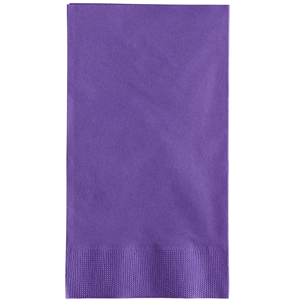 Paper Napkins Beverage or Lunch Red Blue Yellow Green Purple Pink Orange Black