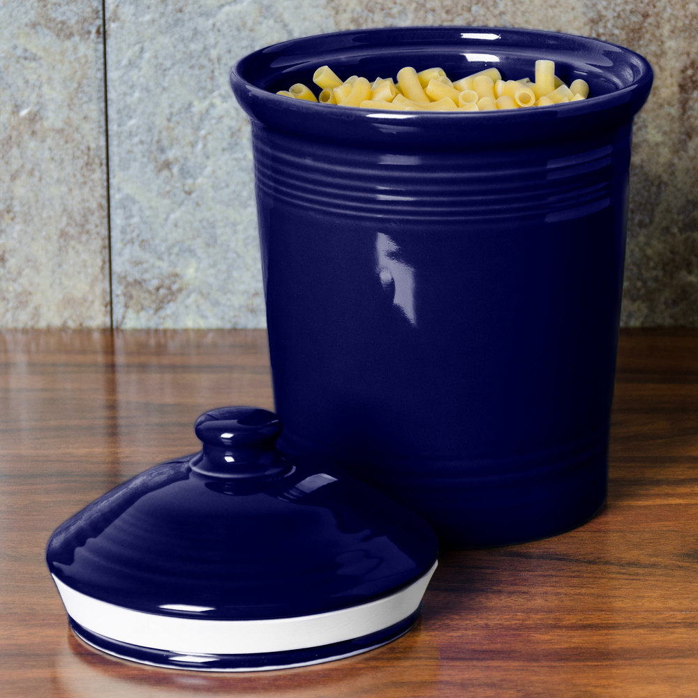 cobalt blue kitchen canisters homer laughlin 572105 cobalt blue medium 2 qt 16744