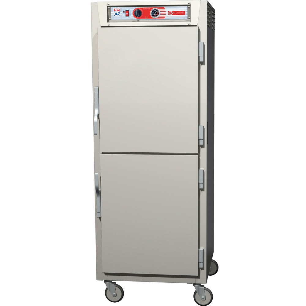 Metro C5Z69-SDS-U C5 Pizza Series Insulated Heated Holding Cabinet - Full Size with Solid Dutch Doors 120V