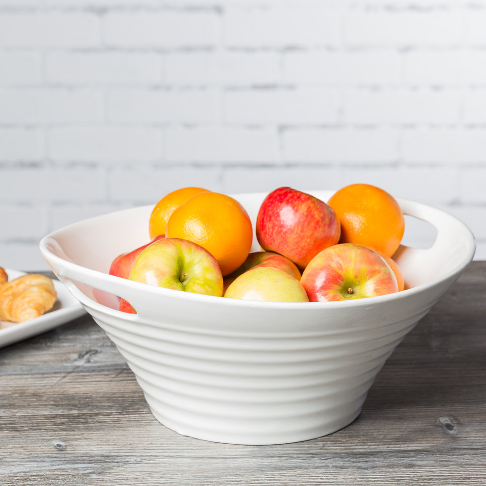 "10 Strawberry Street OSLO-13DEEPHNDLBWL Oslo 13"" White Porcelain Deep Handle Bowl - 6/Case"