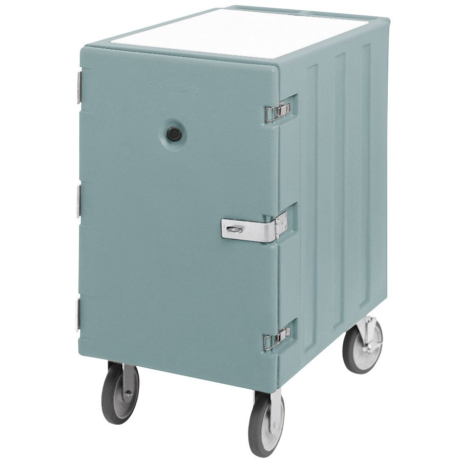 "Cambro 1826LTCSP401 Camcart Slate Blue Mobile Cart for 18"" x 26"" Sheet Pans and Trays with Security Package"