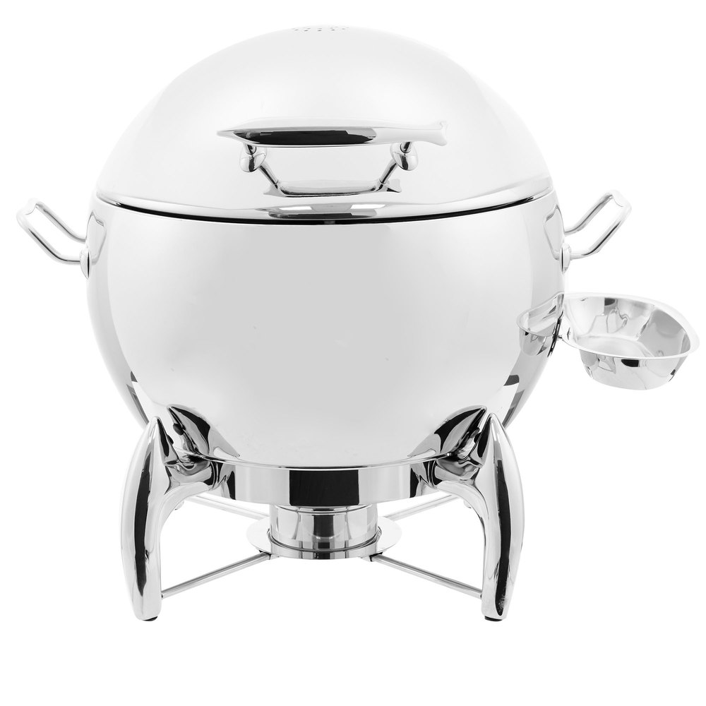 Vollrath T3633 D Lux 11 Qt Round Stainless Steel Soup Chafer