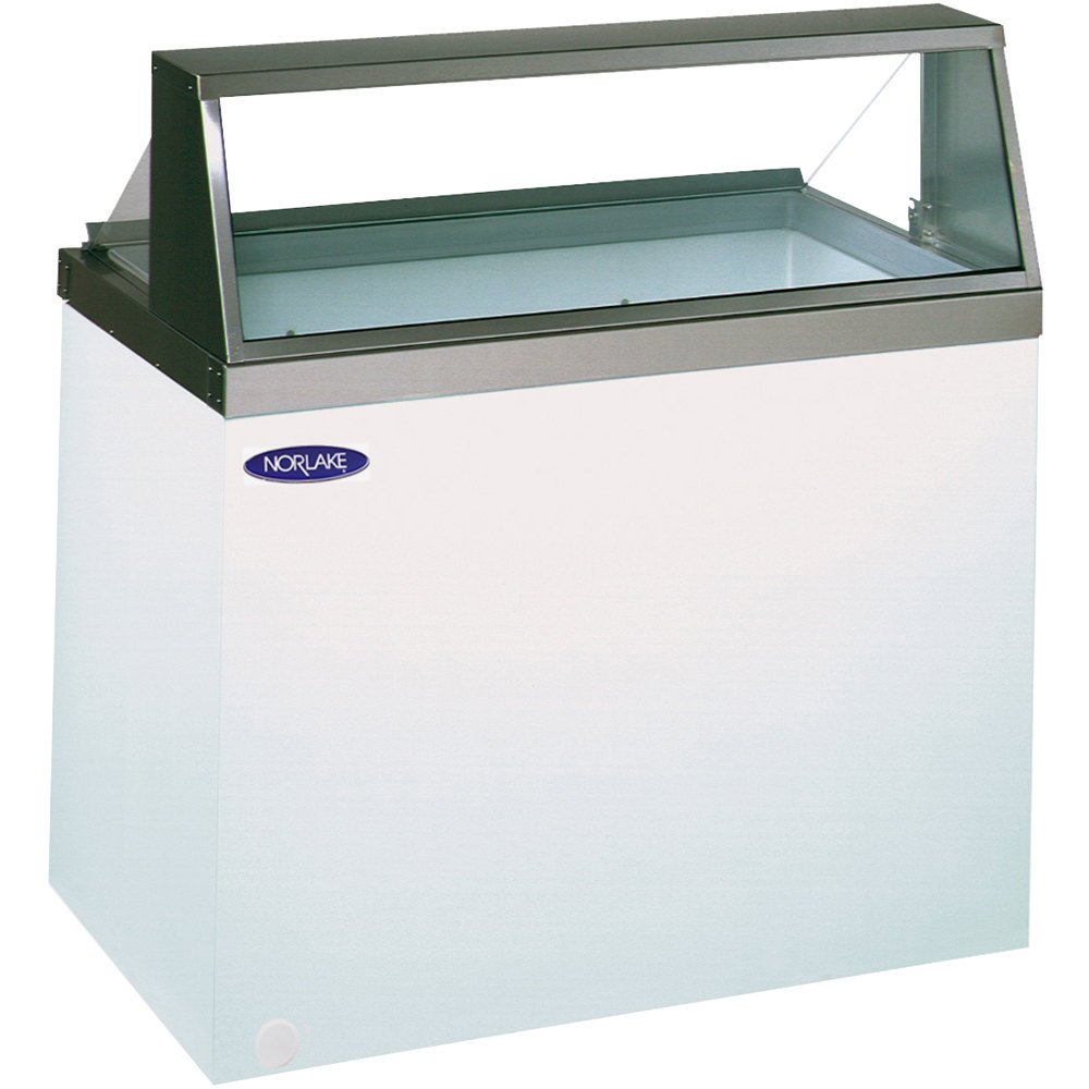 ice cream dipping cabinet nor lake hf100 wwg 0 48 quot glass 17466