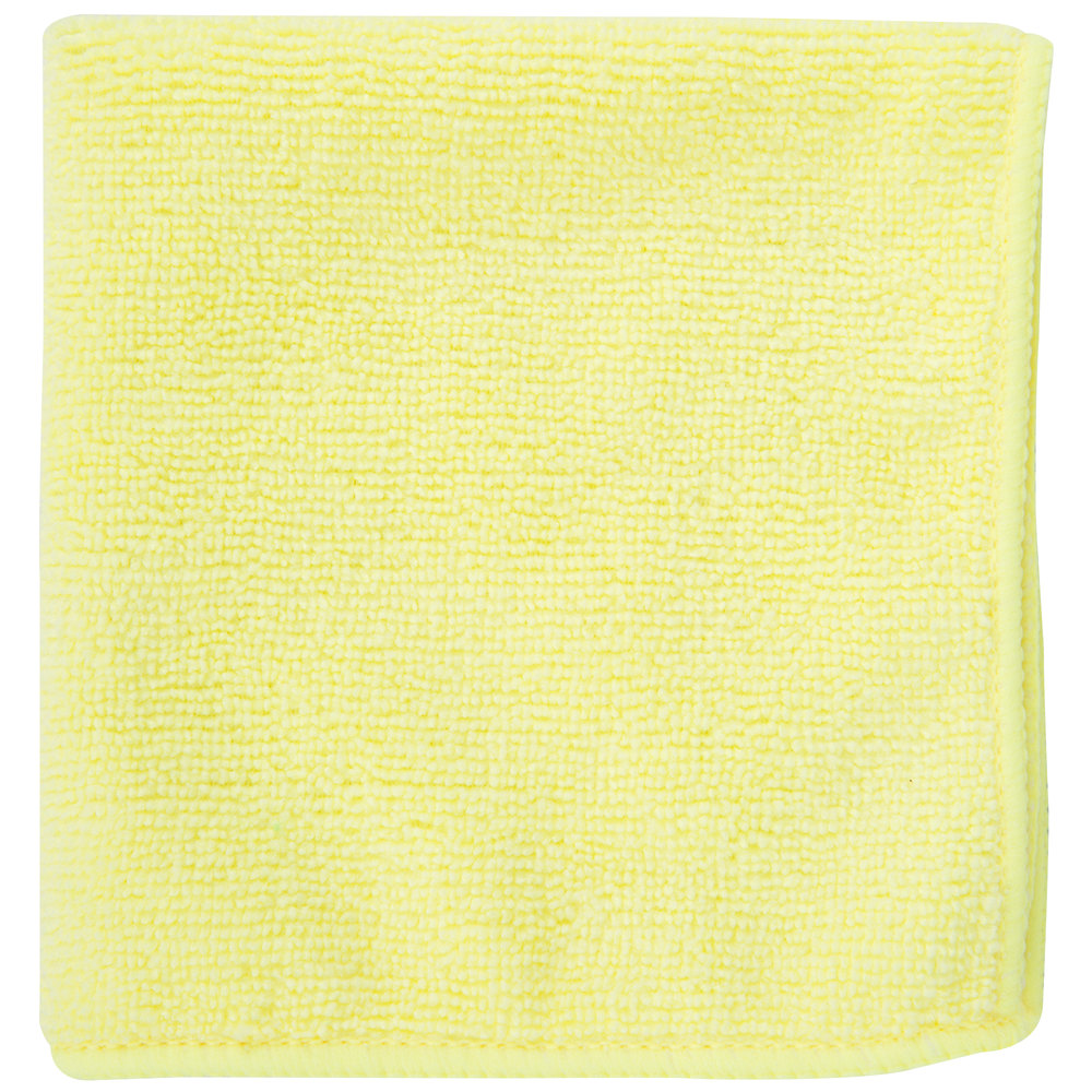 """Microfiber Cloth Guide: 12"""" X 12"""" Yellow Microfiber Cleaning Cloth"""