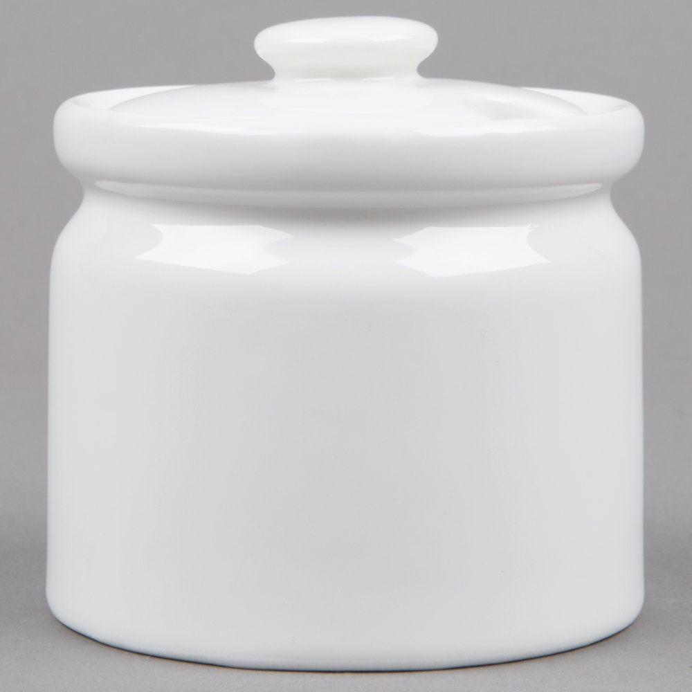 Sugar bowls with lids - Porcelain Sugar Bowl With Lid 4 Pack Main Picture