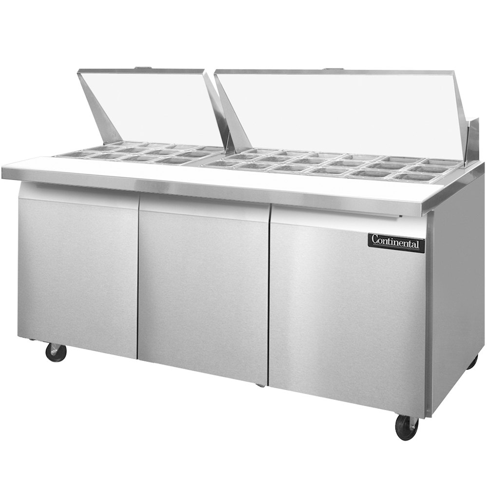Surprising Continental Refrigerator Sw72 30M 72 Mighty Top Sandwich Prep Largest Home Design Picture Inspirations Pitcheantrous
