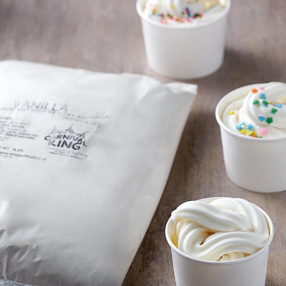 Carnival King 6 lb. Non-Dairy Vanilla Soft Serve Ice Cream Mix - 6/Case