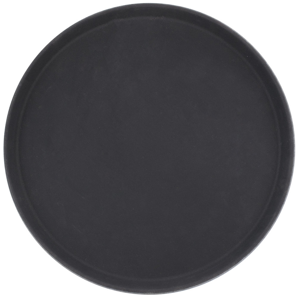 Round 16 Quot Black Non Skid Serving Tray