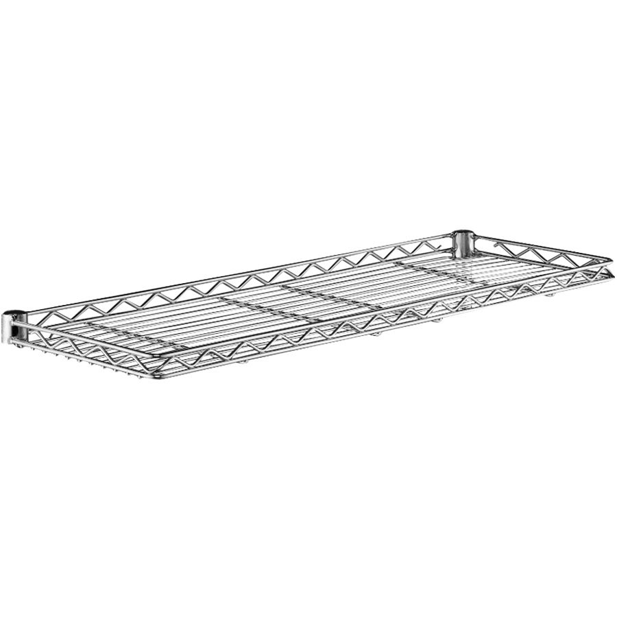 "Metro 1236CSNC Chrome Cantilever Shelf - 12"" x 36"""