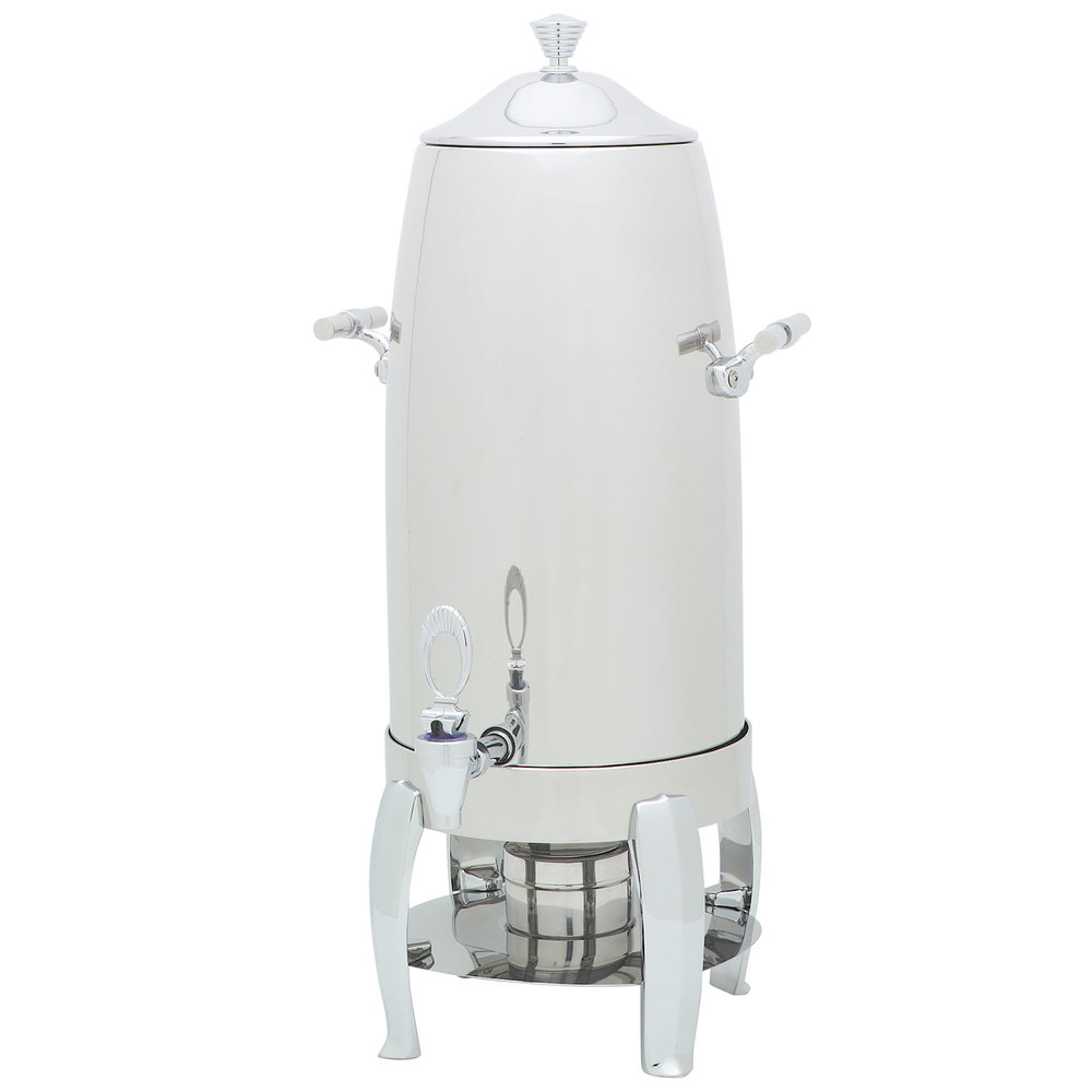 Carlisle 609725 Aspen 5 Gallon Stainless Steel Chafer Beverage Urn